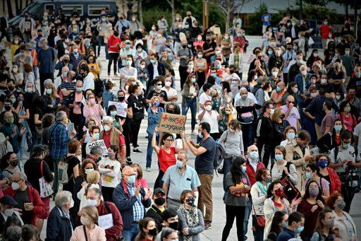 Nieuwe gedeeltelijke lockdown in Madrid leidt tot protesten