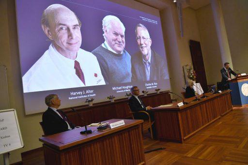 Nobelprijs Geneeskunde naar Amerikaans-Brits team dat Hepatitis C-virus ontdekt heeft