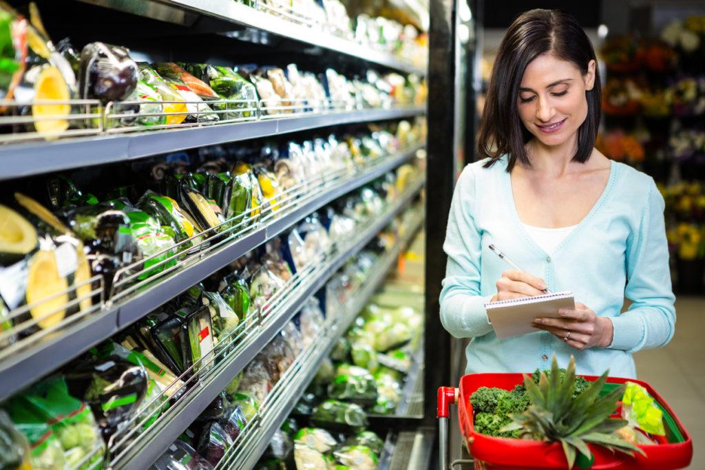 Zorg voor een gezond boodschappenlijstje wanneer je gaat winkelen